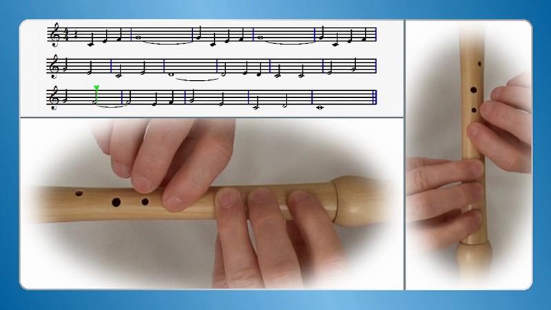 učenje kljunaste flavte na domu